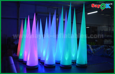 China Kleurrijke de Decoratie Opblaasbare Kegel van het Verlichtingsstadium voor Club/Bevordering leverancier