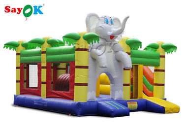 Home Mini Elephant Cartoon Inflatable Bouncer Castle For Kids Party