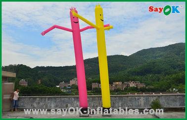 China Van de de Buismens van vakantiedecoratie Rode/Gele Opblaasbare Commerciële Dansende de Luchtmens leverancier