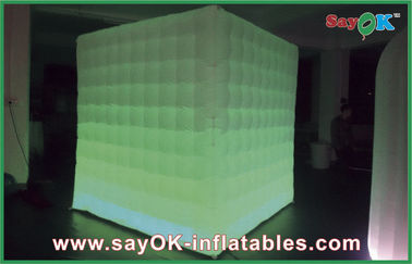 LED Lighting Inflatable Portable Photo Booth For Holiday Decorations