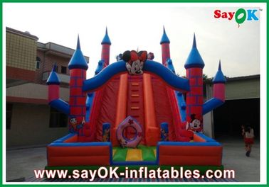 China Rode Opblaasbare het Waterdia van Mickey Mouse 0.5mm pvc L6 x W3 x H5m leverancier