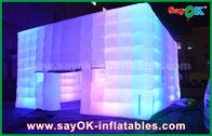 Openluchtpvc bedekte Reuzekubus Opblaasbare Tent met het Licht van de Kleurenverandering/Luchtventilator met een laag