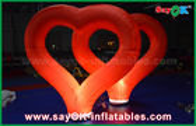 Van Goede Kwaliteit Opblaasbare Luchttent & Rode Nylon Opblaasbare Hart van huwelijks het Openlucht Opblaasbare Decoratie met LEIDEN Licht te koop