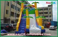 China Van de het Geteerde zeildoek Opblaasbare Uitsmijter van grappig/Veiligheidspvc de Dia Gele/Blauwe Kleur voor het Spelen fabriek