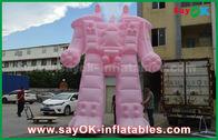 China De roze Doek van Oxford/de Opblaasbare Robot van pvc voor Buitenkant Reclameproducten fabriek