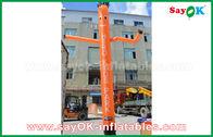 China Rode/Oranje/Blauwe Opblaasbare Luchtdanser/Hemeldanser met met Ce-Ventilator voor Openlucht Reclame fabriek
