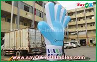 China Reuze de Douane Opblaasbare Producten van Oxford, 2m lang Opblaasbaar Blauw Handmodel voor Gebeurtenissen fabriek