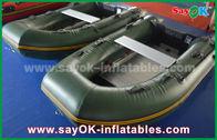 China Groene 0,9/1,2 mm van Geteerd zeildoekpvc Inflatabe de Boten met Aluminiumvloer/Peddels fabriek