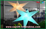 China Duurzame Opblaasbare Verlichtingsdecoratie, Opblaasbare Ster met Geleid Licht fabriek