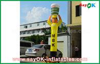 China Het gele Opblaasbare Kooktoestel van de Luchtdanser voor Reclame, Opblaasbare Hemeldanser fabriek