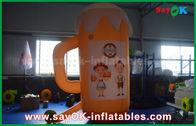 China Oranje Douane Opblaasbare Producten/Opblaasbaar Kop en Bier voor Bevordering/Partij fabriek