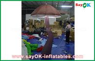 China De levendige Bruine Opblaasbare Paddestoel met LEIDEN licht binnen voor toont Decoratie fabriek