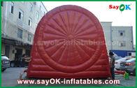 China Grappige Rode Opblaasbare Sportenspelen/Duurzaam Opblaasbaar de voetbaldartboard van pvc Tarpulin fabriek