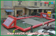 China Het reuze 0.5mm Gebied van de het Geteerde zeildoek Opblaasbare Voetbal van pvc, Draagbaar Opblaasbaar Voetbalgebied fabriek