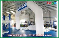 China De Blauwe/Witte Opblaasbare Boog van Italië 6mL x 4mH met de Doek van Oxford en pvc-Deklaag bedrijf