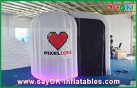 China De witte Rond gemaakte Opblaasbare Doek van Photobooth 210D Oxford en LEIDEN Licht bedrijf