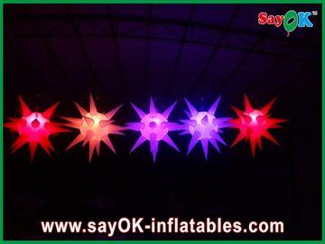 De veelzijdige Stadiumdecoratie leidde Verlichtings Opblaasbare Ster voor Gebeurtenis, Rood/Blauw