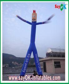 Blauwe Opblaasbare het scheuren-Einde Nylon Doek van de Luchtdanser met Twee Benen