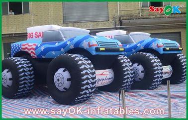 De blauwe 5M Opblaasbare Doek van Oxford van de Jeepauto 210D voor Adversting