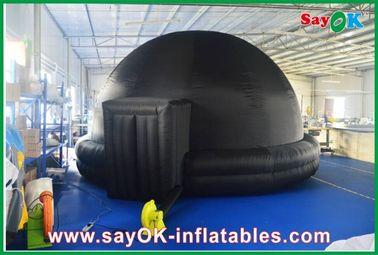 Zwart Opblaasbaar Planetarium, de Duurzame Opblaasbare Mobiele Bioskoop van de Projectietent